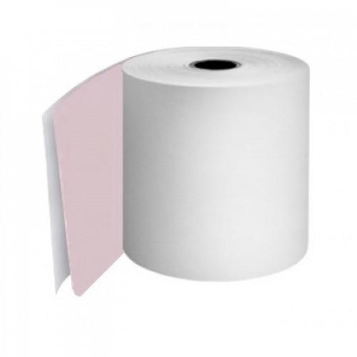 Kitchen Printer Rolls 2Ply 76mm White Pink Boxed 20s - KPRM055