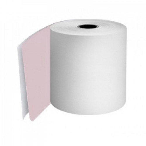 76mm 2 Ply Rolls White/Pink Boxed 20s - M055