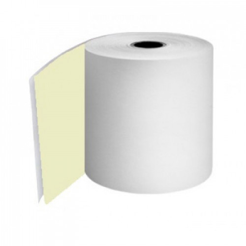 76mm 2 Ply Rolls White/Yellow Boxed 20s - M056