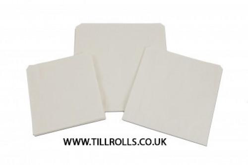 "10"" x 10"" White Scotchban Greaseproof Bags - 203152"