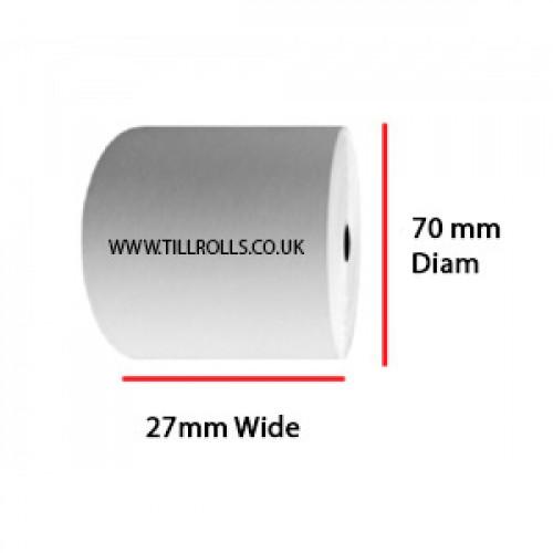 27 x 70 x 17.5mm Core Single Ply A Grade Rolls Boxed 40s - A002