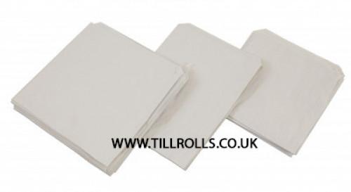 """6"""" x 6"""" White Sulphite Bags - 201105"""