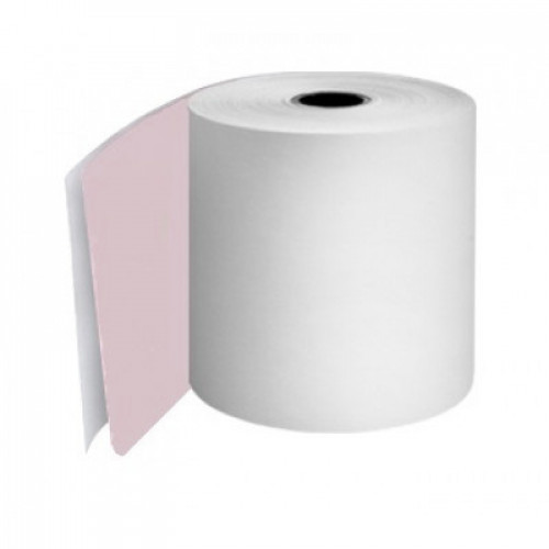 57 x 57 x 12.7mm Core 2 Ply Rolls White/Pink Boxed 20s - M050