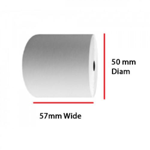 57 x 50 x 17.5mm Core Single Ply A Grade Rolls Boxed 20s - A118