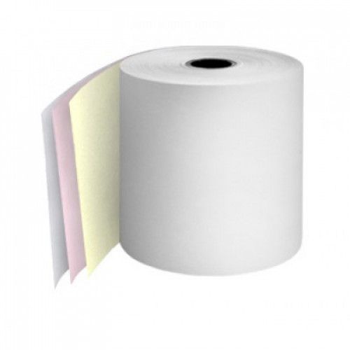 76mm 3 Ply Rolls White/Pink/Yellow Boxed 20s - M064