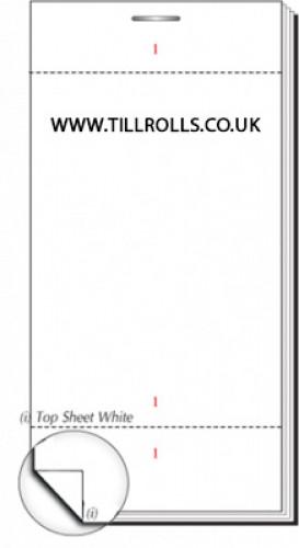 63 x 152mm Plain Single Ply Restaurant Pad Boxed 100s - PADS90