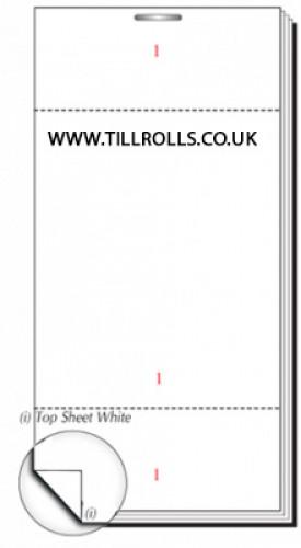 63 x 127mm Plain Single Ply Restaurant Pad Boxed 100s - PADS45