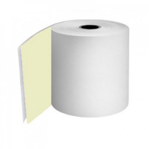 Kitchen Printer Rolls 2Ply 76mm White Yellow Boxed 20s - KPRM056